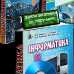 Електронні матеріали до підручників з інформатики за 8 клас